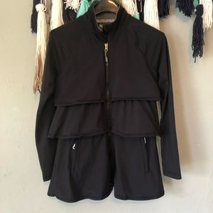 Athleta - Zip Up Ruffle Jacket
